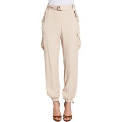tekstylia Damskie Spodnie bojówki Gaudi 011FD25018 Beżowy