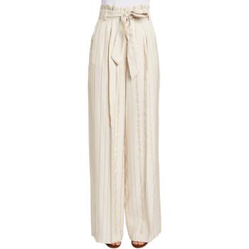tekstylia Damskie Spodnie z lejącej tkaniny / Alladynki Gaudi 011FD25029 Beżowy