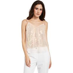 tekstylia Damskie Topy / Bluzki Gaudi 011FD45036 Różowy