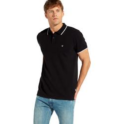 tekstylia Męskie Koszulki polo z krótkim rękawem Wrangler W7C10K Czarny