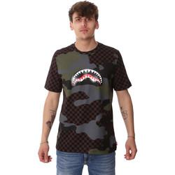 tekstylia Męskie T-shirty z krótkim rękawem Sprayground SP01820BRO Brązowy