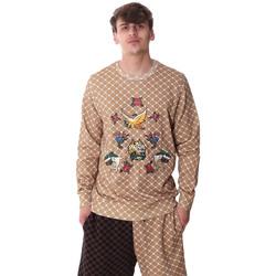 tekstylia Męskie Bluzy Sprayground 20SP025 Beżowy