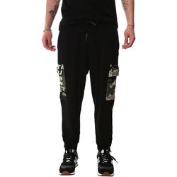tekstylia Męskie Spodnie bojówki Sprayground 20SP017 Czarny