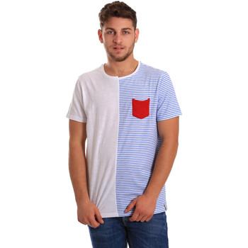 tekstylia Męskie T-shirty z krótkim rękawem Gaudi 811FU64046 Biały