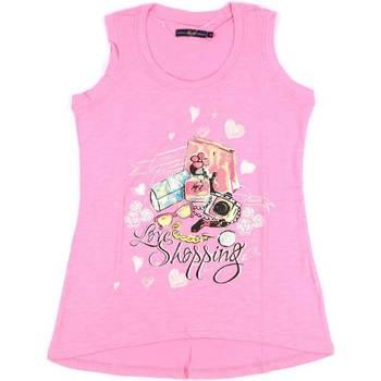 tekstylia Damskie Topy na ramiączkach / T-shirty bez rękawów Key Up S88Z 0001 Różowy