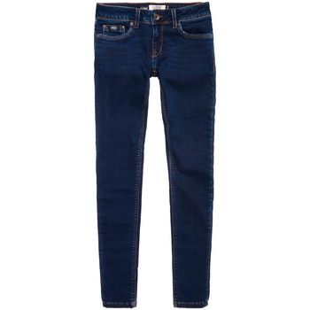 tekstylia Damskie Jeansy slim fit Superdry G70001VPF4 Niebieski