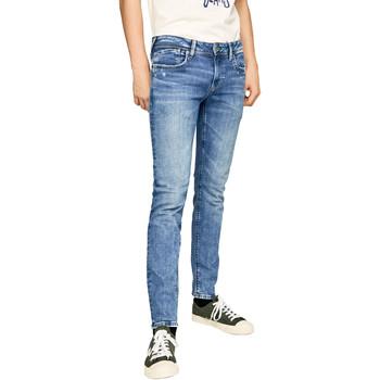 tekstylia Męskie Jeansy slim fit Pepe jeans PM200823WF92 Niebieski