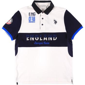 tekstylia Męskie Koszulki polo z krótkim rękawem U.S Polo Assn. 43773 41029 Biały