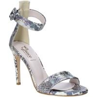 Buty Damskie Sandały Grace Shoes 018SP022 Srebro