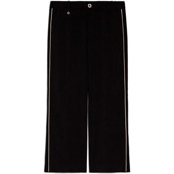 tekstylia Damskie Spodnie z lejącej tkaniny / Alladynki NeroGiardini E060140D Czarny