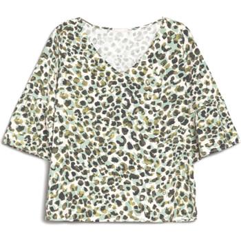 tekstylia Damskie T-shirty z krótkim rękawem NeroGiardini E062770D Zielony