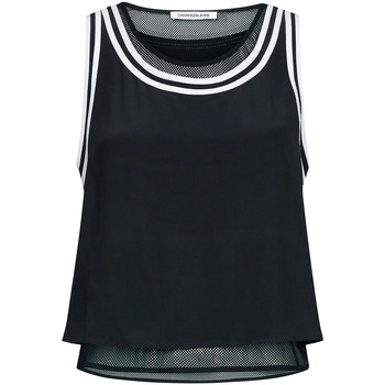 tekstylia Damskie Topy / Bluzki Calvin Klein Jeans J20J213621 Czarny