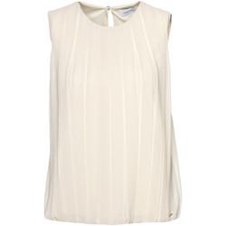 tekstylia Damskie Topy / Bluzki Calvin Klein Jeans K20K201947 Beżowy