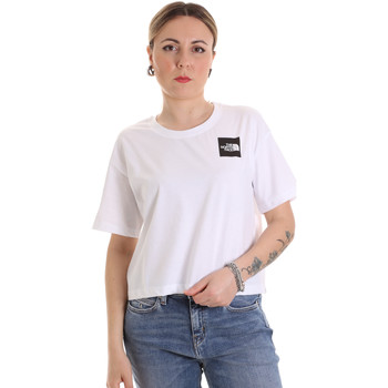 tekstylia Damskie T-shirty z krótkim rękawem The North Face NF0A4SY9FN41 Biały