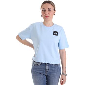 tekstylia Damskie T-shirty z krótkim rękawem The North Face NF0A4SY9JH51 Niebieski