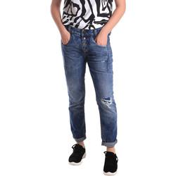 tekstylia Damskie Jeansy slim fit Fornarina BER1I27D785IM Niebieski