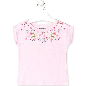 tekstylia Dziecko T-shirty z krótkim rękawem Losan 016-1003AL Różowy