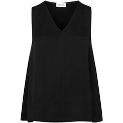 tekstylia Damskie Topy / Bluzki Calvin Klein Jeans K20K201807 Czarny