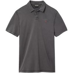 tekstylia Męskie Koszulki polo z krótkim rękawem Napapijri NP0A4E2L Szary