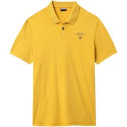 tekstylia Męskie Koszulki polo z krótkim rękawem Napapijri NP0A4E2L Żółty
