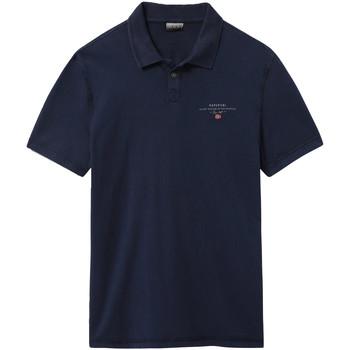 tekstylia Męskie Koszulki polo z krótkim rękawem Napapijri NP0A4E2L Niebieski