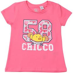 tekstylia Dziecko T-shirty z krótkim rękawem Chicco 09006955000000 Różowy