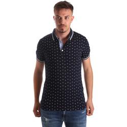 tekstylia Męskie Koszulki polo z krótkim rękawem Navigare NV82099 Niebieski