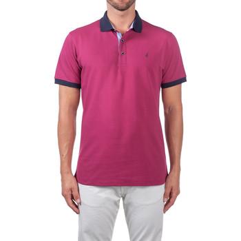 tekstylia Męskie Koszulki polo z krótkim rękawem Navigare NV82124 Fioletowy
