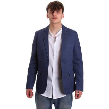 tekstylia Męskie Kurtki / Blezery Gaudi 011BU35025 Niebieski