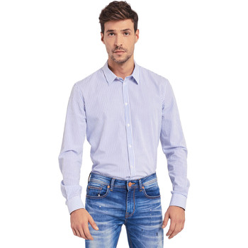 tekstylia Męskie Koszule z długim rękawem Gaudi 011BU45032 Biały