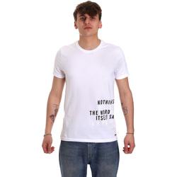 tekstylia Męskie T-shirty z krótkim rękawem Gaudi 011BU64071 Biały