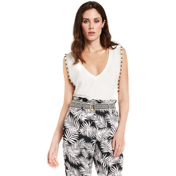 tekstylia Damskie Topy / Bluzki Gaudi 011FD64008 Biały