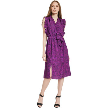tekstylia Damskie Sukienki długie Gaudi 011BD15004 Fioletowy