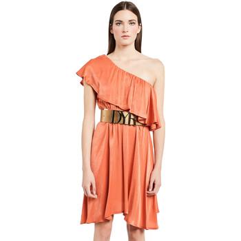 tekstylia Damskie Sukienki krótkie Denny Rose 011ND15020 Pomarańczowy