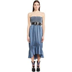 tekstylia Damskie Sukienki długie Denny Rose 011ND16002 Niebieski