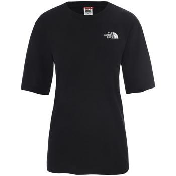 tekstylia Damskie T-shirty z krótkim rękawem The North Face NF0A4CESJK31 Czarny