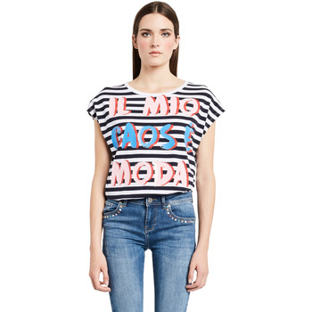 tekstylia Damskie T-shirty z krótkim rękawem Denny Rose 011ND64017 Biały