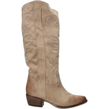 Buty Damskie Botki Grace Shoes 544104 Beżowy