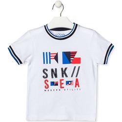 tekstylia Dziecko T-shirty z krótkim rękawem Losan 015-1000AL Biały