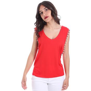 tekstylia Damskie Topy / Bluzki Gaudi 011FD64008 Czerwony