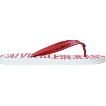 Buty Męskie Japonki Calvin Klein Jeans B4S0676 Czerwony
