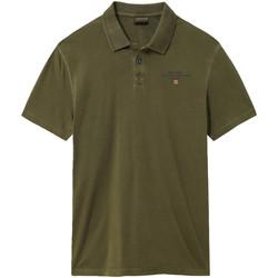 tekstylia Męskie Koszulki polo z krótkim rękawem Napapijri NP0A4E2L Zielony