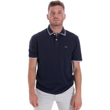 tekstylia Męskie Koszulki polo z krótkim rękawem Les Copains 9U9020 Niebieski
