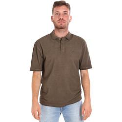 tekstylia Męskie Koszulki polo z krótkim rękawem Les Copains 9U9016 Brązowy