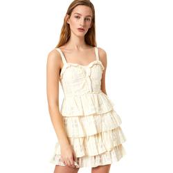 tekstylia Damskie Sukienki krótkie Liu Jo FA0312 T4190 Biały