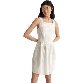 tekstylia Damskie Sukienki krótkie Superdry W8010090A Biały
