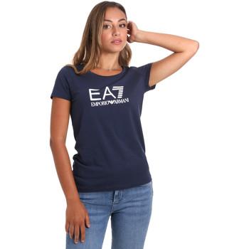 tekstylia Damskie T-shirty z krótkim rękawem Ea7 Emporio Armani 8NTT63 TJ12Z Niebieski