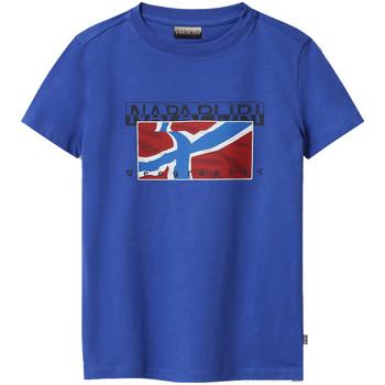 tekstylia Dziecko T-shirty z krótkim rękawem Napapijri NP0A4E52 Niebieski