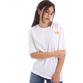tekstylia Damskie T-shirty z krótkim rękawem The North Face NF0A4M5QP9V1 Biały
