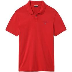 tekstylia Męskie Koszulki polo z krótkim rękawem Napapijri NP0A4E2L Czerwony